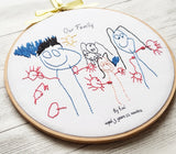 "10"" child's art work stitched  keepsake - Children Drawing"