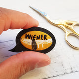 'Sausage Dog - Wiener' Badge - Hand Embroidered Wearable