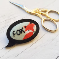 'Fox' Badge - Hand Embroidered Wearable