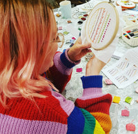 Introduction to Hand Embroidery Stitches - Workshop at Tranquilitea - Swinton