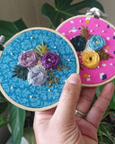 Hand embroidery beginners woven wheel