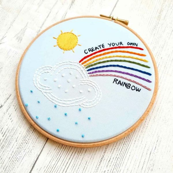 Create Your Own Rainbow - Hand Embroidery Kit