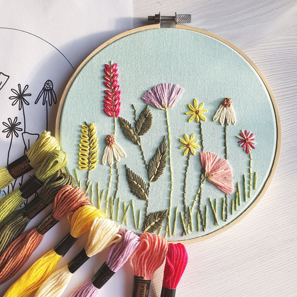 Spring Garden - Hand Embroidery Kit