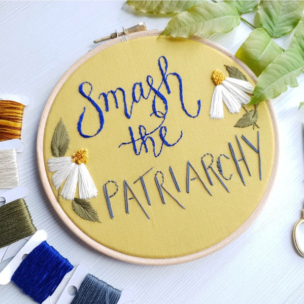 SMASH THE PATRIARCHY - ready to buy hoop art