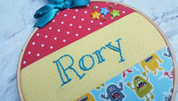 "6"" Colourful Patchwork Name - Nursery Decor Children's Bedroom"