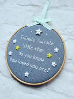 "6"" Twinkle Twinkle - Nursery Decor Children's Bedroom"