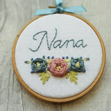 "4"" Nana - Custom Family Hoop Art"