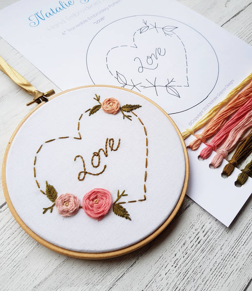 "LOVE - 6"" Hand Embroidery Kit"