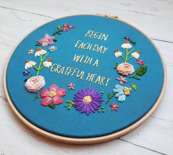 "8"" Grateful Heart - Custom/Bespoke Hoop Art Gallery"