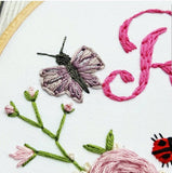 "6"" Butterfly & Ladybird Custom Name Hoop -Nursery Decor Children's Bedroom"