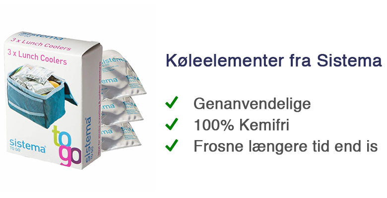 KØLEELEMENT FRA SISTEMA | SISTEMA LUNCH COOLER TO GO | 3-PACK