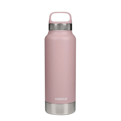 Sistema Stainless Steel drikkeflaske - 600ml - Dusty Pink