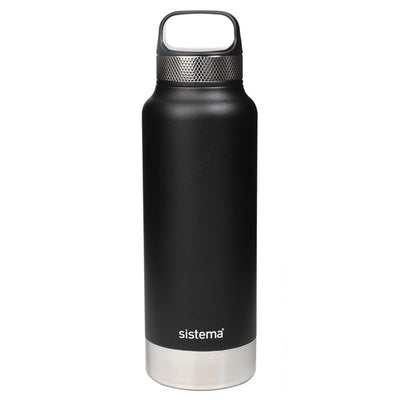 Sistema Stainless Steel drikkeflaske - 600ml - Black