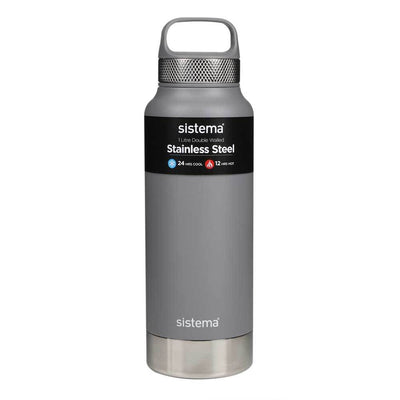 Sistema Stainless Steel drikkeflaske - 600ml - Grey