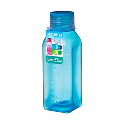 Sistema Square Bottle Small firkantet drikkedunk - 475ml - Blå