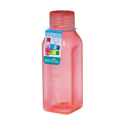 Sistema Square Bottle Small firkantet drikkedunk - 475ml - Melon