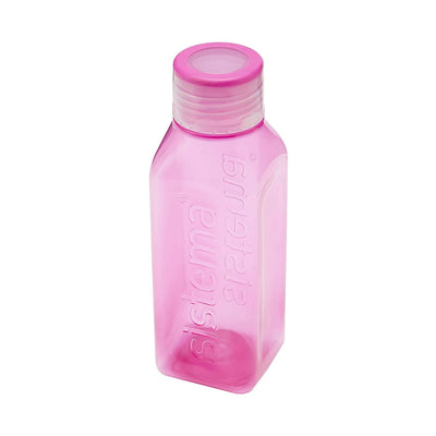 Sistema Square Bottle Small firkantet drikkedunk - 475ml - Pink