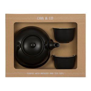 Black Ceramic Tea Gift Set