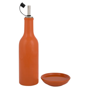 Orange Oil Bottle & Dipper Plate