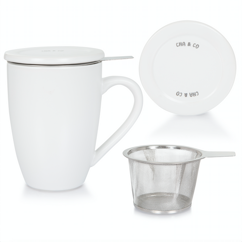 White Ceramic Infuser Mug