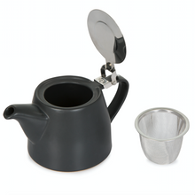 Load image into Gallery viewer, Black Ceramic Teapot