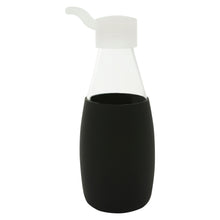 Load image into Gallery viewer, Jordan & Judy x Scandi Home Black Glass Water Bottle