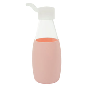 Jordan & Judy x Scandi Home Pink Glass Water Bottle