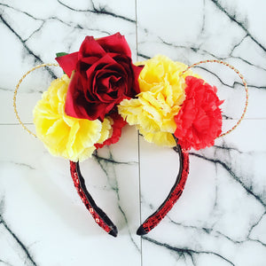 Magic rose flower crown ears