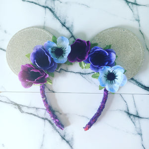 Glitter flower crown