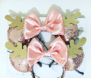 Rose gold reindeer Ears