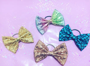 Bows - hair ties/clips