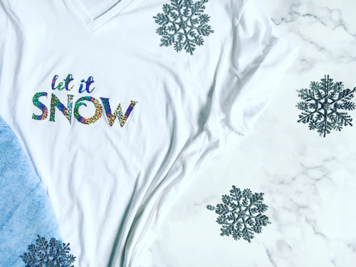 Holographic 'Let it Snow' Tee