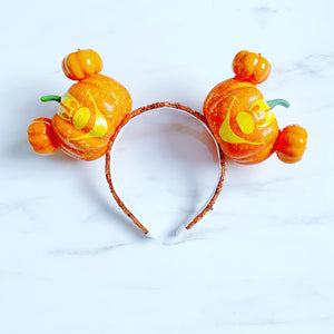 Carved pumpkin ears