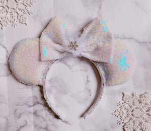 Simple snowflake sparkle Ears