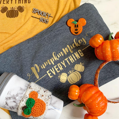 Pumpkin Mickey Everything | Heather Tee