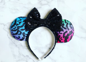 Rainbow sparkle Bats Ears