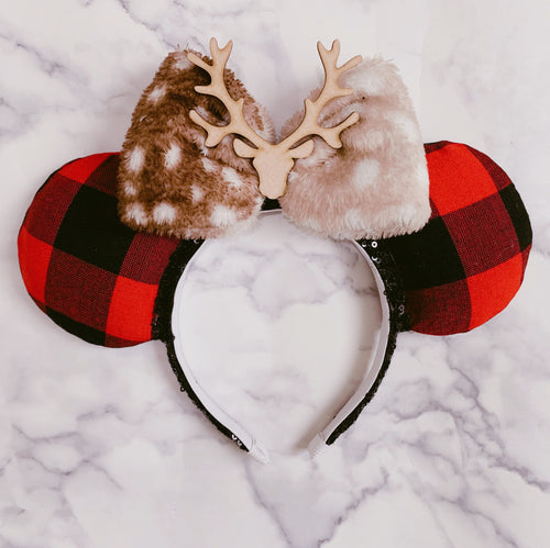 Plaid deer Ears