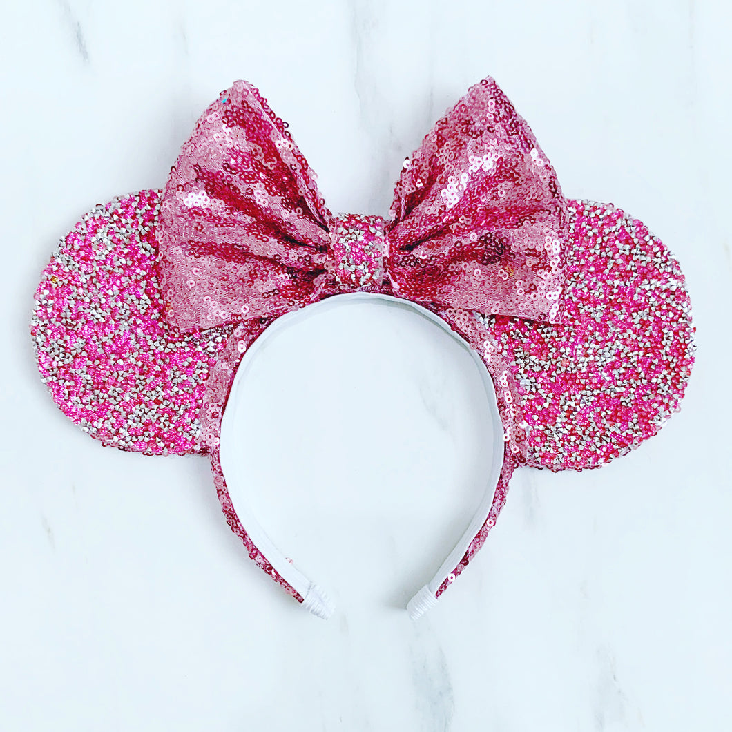 Luxury crystal Pink ears