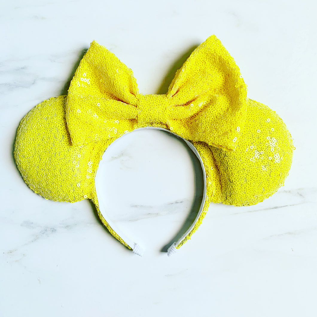 Sunshine yellow sequin | Ears
