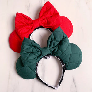 Vintage Quilted Christmas Ears