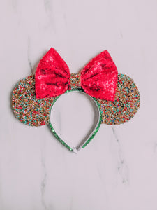 Deluxe diamond Christmas lights ears