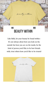 Beauty within | Honey Tee-shirt