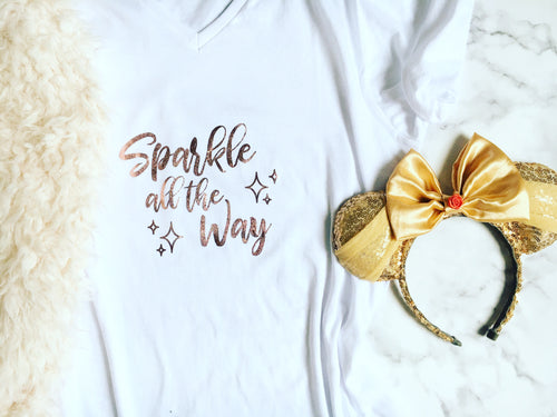 Rose Gold 'Sparkle All The Way' Tee