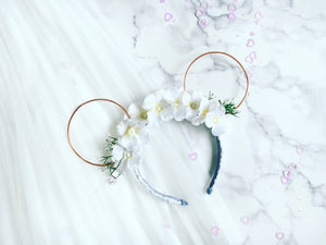 Bridal white flower crown