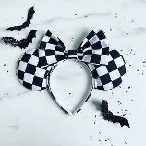 Black and white checkered