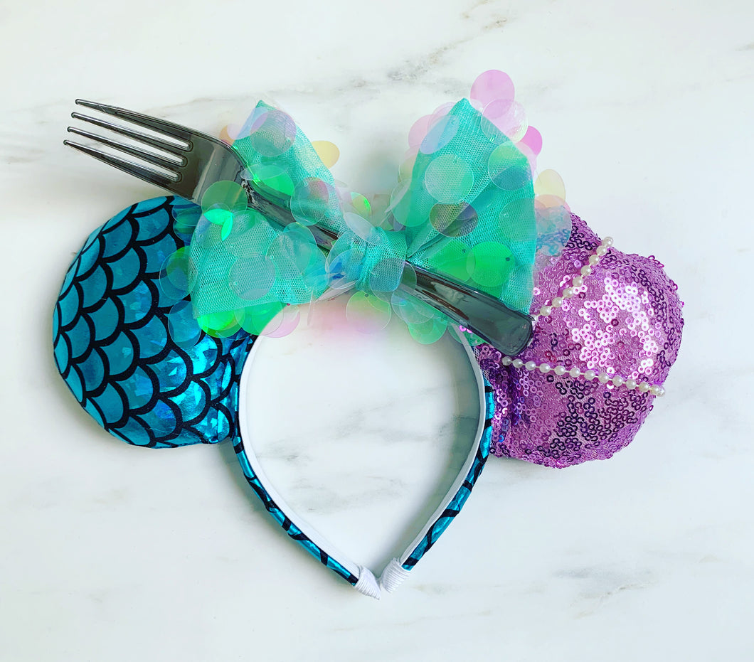 Teal Sequin Mermaid ears
