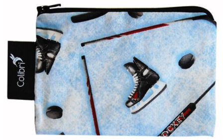 Reusable Small Snack Bag - Hockey