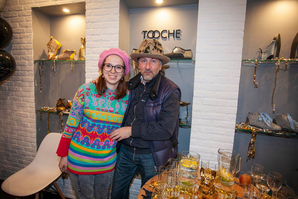TOOCHE designer Michelle Shehurina and co-owner Yuris Emils Svans