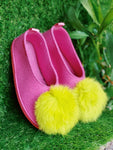 BUBBLE GUM pom pom kids slippers