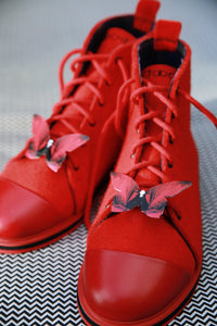 CANDY APPLE RED shoes